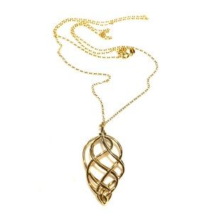 NIB Links of London Woven Necklace 18k YG vermeil